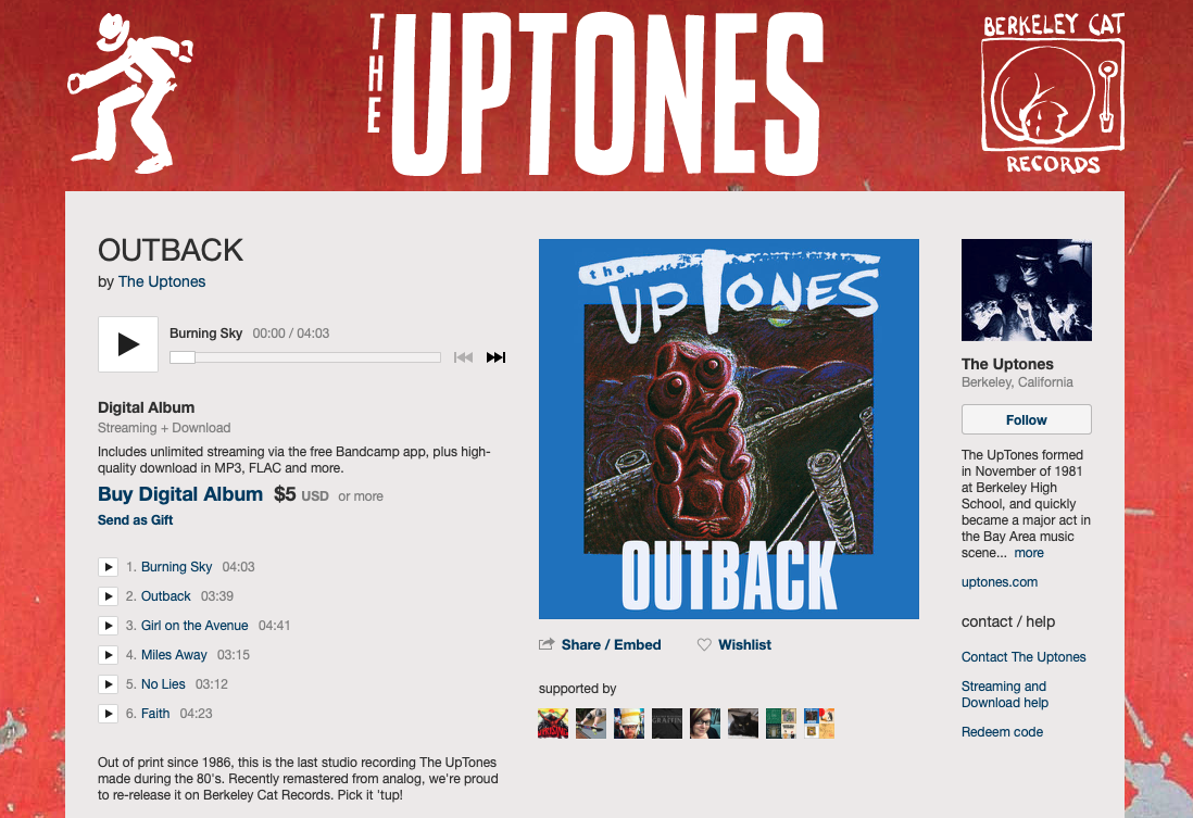 Out of the Outback, with The UpTones and Berkeley Cat